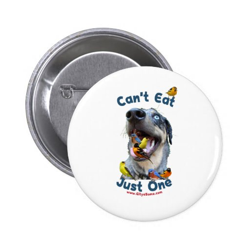 Can't Eat Just One Bird Dog Buttons