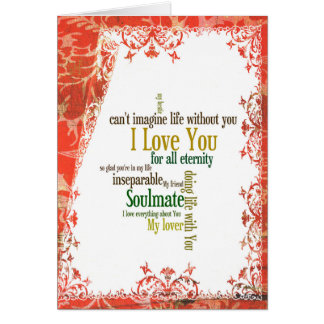 Can't Imagine Life Without You Card