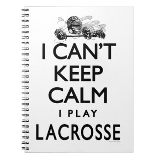 Can't Keep Calm Lacrosse Notebook