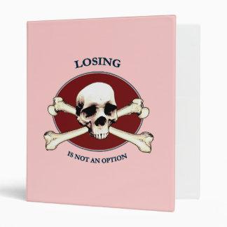 Can't Lose Pirate Skull Vinyl Binders