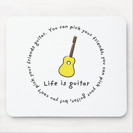 Can't Pick Your Friends Guitar! Mouse Pad