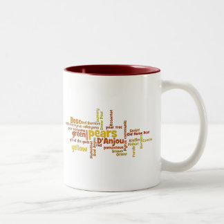 Can't say enough about pears! Two-Tone coffee mug