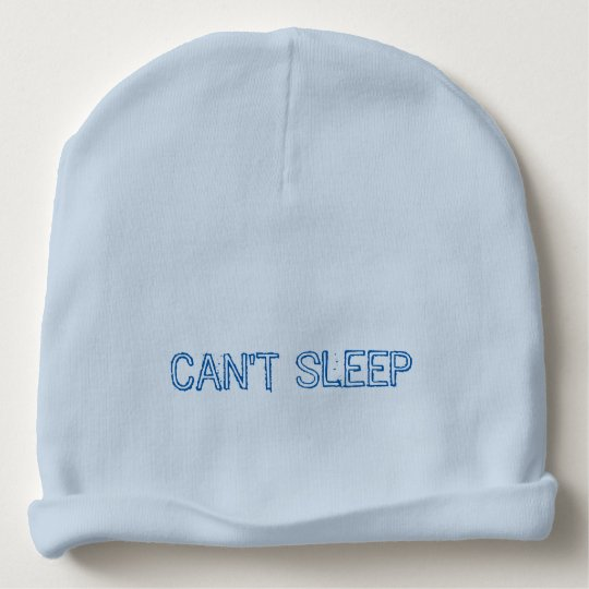 Can't Sleep Hat Blue monster Baby Beanie