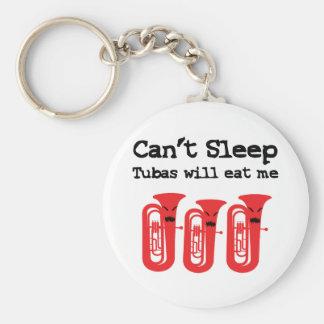 Can't Sleep, Tubas Will Eat Me Keychain