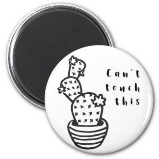 Cant Touch Cactus 2 Inch Round Magnet