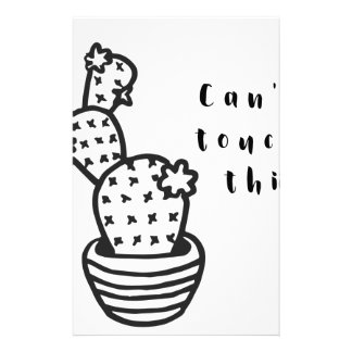 Cant Touch Cactus Stationery