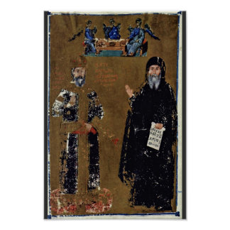 Cantacuzenos Double Portrait Of The Emperor And Mo Poster