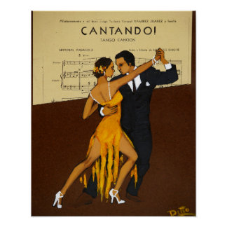 cantando tango poster