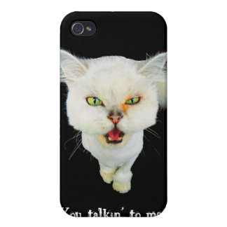 Cantankerous, cute crazy cat iPhone 4 covers