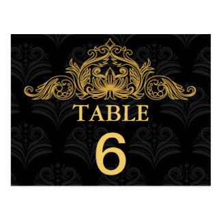 Canterbury Royale Wedding Table Number Card