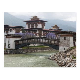Cantilevered bridge near Punakha Dzong palace Postcard