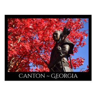 Canton ~ Georgia Statue Postcard