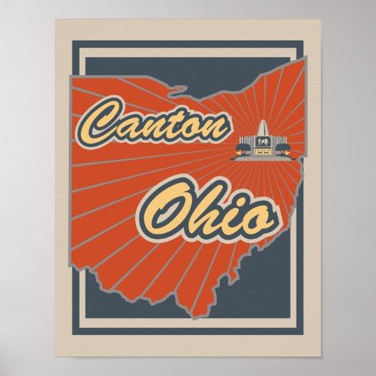 Canton, Ohio Art Print - Travel Poster