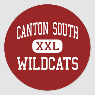 Canton South - Wildcats - High - Canton Ohio Round Sticker
