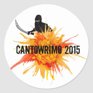 Cantowrimo Yellow Ninja Stickers
