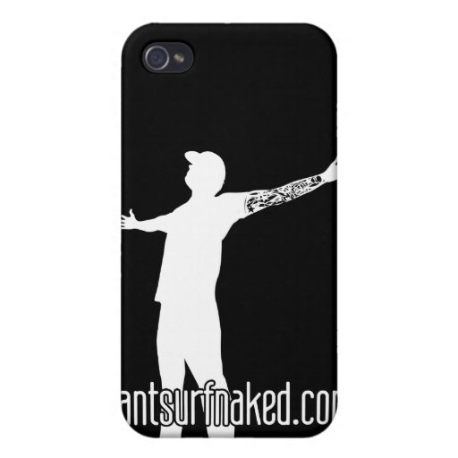 cantsurfnaked (White) iPhone 4/4S Case