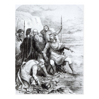 Canute Reproving the Flattery of his Courtiers Postcard