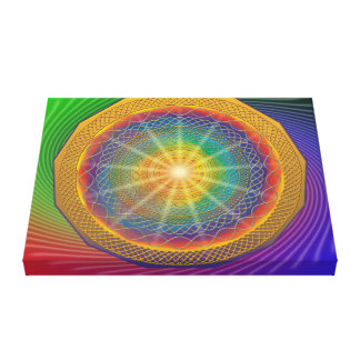 Canva with active Geometry DNA Multidimension Canvas Print
