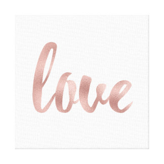 Canvas art- rose gold love