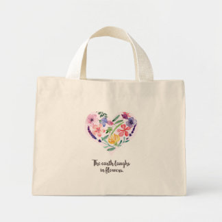 Canvas Baf - The earth laughs in flowers Mini Tote Bag