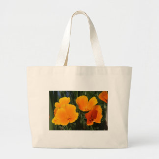 """Canvas Bag, """"FOUR CALIFORNIA POPPIES"""" Large Tote Bag"""