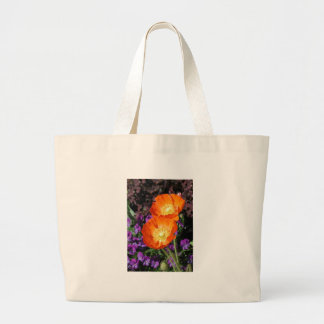 Canvas Bag, Iceland Poppy Large Tote Bag