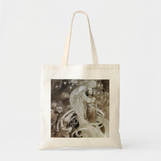 Canvas Bag:  Mucha Illustration from Le Pater Tote Bag