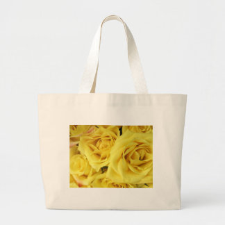 """Canvas Bag, """"Yellow Roses"""" Horizontal Design Large Tote Bag"""