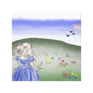 Canvas, children, girl canvas print
