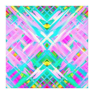 Canvas Colorful digital art splashing G473