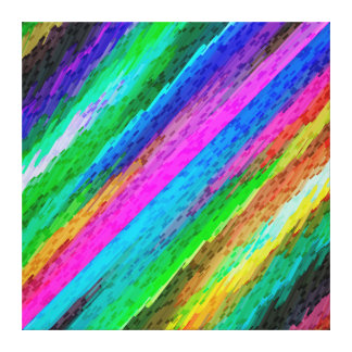Canvas Colorful digital art splashing G478