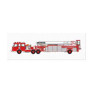 Canvas Custom Designed Fire Truck Stretched Canvas Print