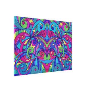 Canvas Floral abstract background Gallery Wrapped Canvas