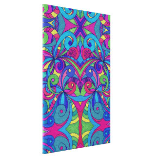 Canvas Floral abstract background Stretched Canvas Print