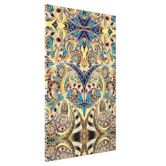 Canvas Floral abstract background Canvas Print