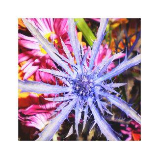 Canvas Flower Photography Purple Web 11 x 14