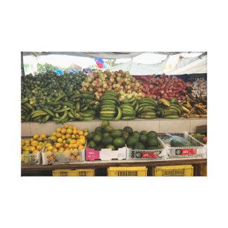 Canvas fruit market.