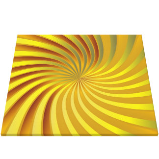 Canvas gold spiral vortex