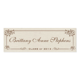 Canvas Graduation Name Card Insert