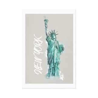 Canvas. Liberty Statue of Liberty New York the USA Canvas Print