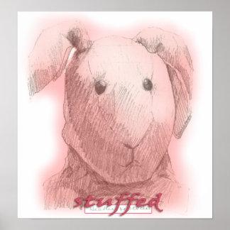 "Canvas Matte Print of ""Stuffed"""
