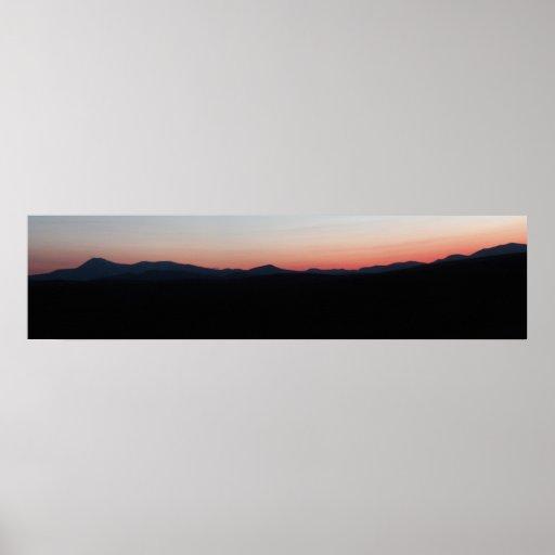 Canvas Mount Katahdin sunset  Panoramic Print