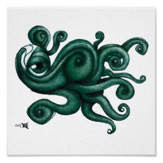 Canvas Octopus Poster