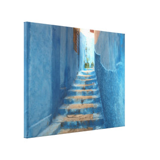 Canvas picture Morocco stairs