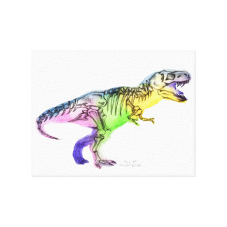 Canvas picture Rainbow TRex