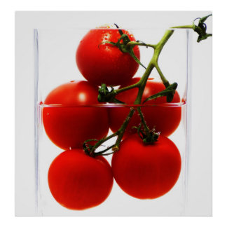 Canvas picture tomatoes in the glass abstractly poster