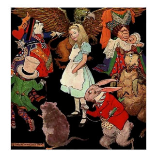 Canvas Poster Alice In Wonderland