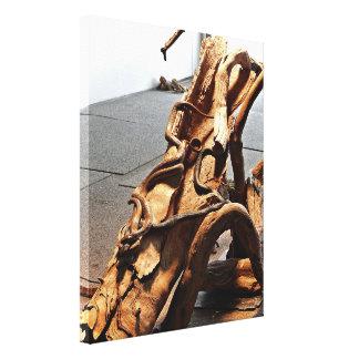 Canvas Print - Brown Snakes on Log