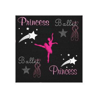 Canvas Print de ballet de princesse Stretched Toile Tendue Sur Châssis