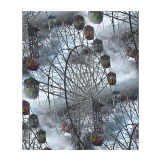 Canvas Print - Ferris Wheel in Clouds